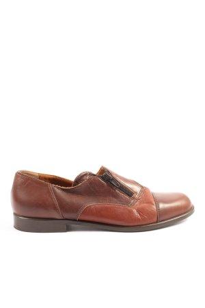 Zanon & Zago Scarpa Derby marrone-rosso stile casual