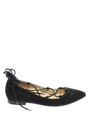 Zanon & Zago Ballerina's met bandjes zwart zakelijke stijl