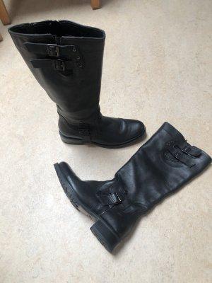 Zanon&Zago Stiefel schwarz Leder Gr. 38