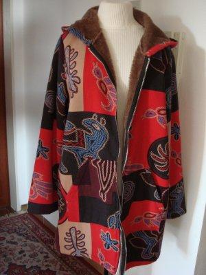 ZANZEA Collektion - Jacke mit Kaputze Mantel Gr. 44/46  - bunte Ornamente