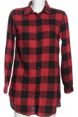 Zanzea Flannel Shirt red-black check pattern casual look