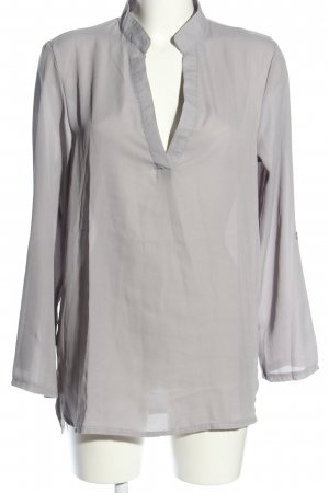 Zanzea Long-Bluse hellgrau Business-Look