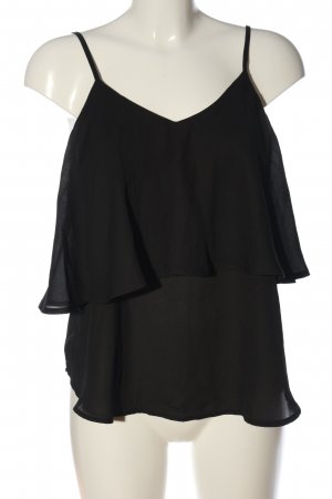 Zanzea Frill Top black elegant
