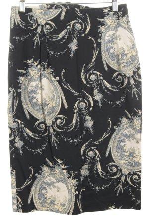 Zapa Bleistiftrock florales Muster klassischer Stil