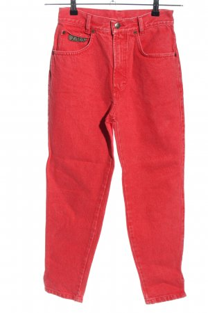 Zapa Jeans a carota rosso Stampa a tema stile casual