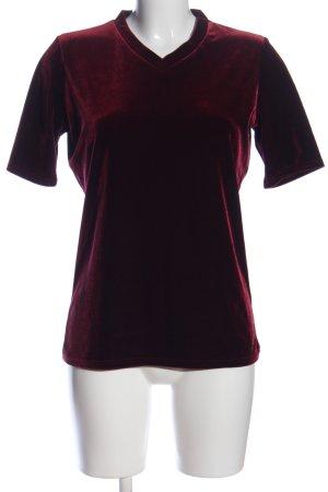 Zapa Kurzarm-Bluse rot Farbverlauf Elegant