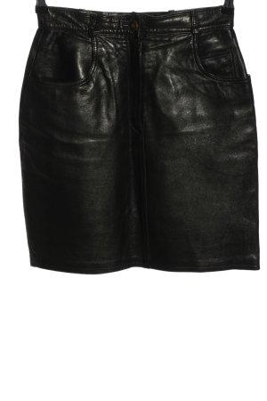 Zapa Jupe en cuir noir style mouillé