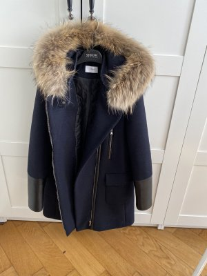 ZAPA PARIS Hooded Coat dark blue