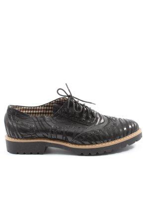 Zapato Scarpa a coda di rondine nero motivo animale stile casual