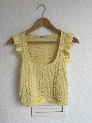 Zara Cropped top sleutelbloem-geel