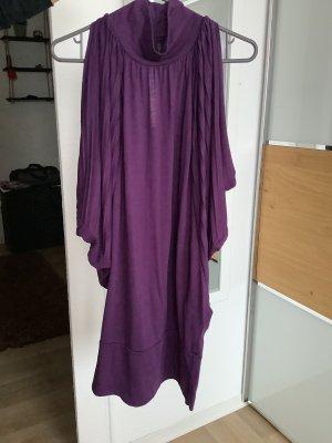 Zara Basic Sweter z krótkim rękawem fiolet