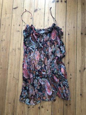 Zara Haut en soie multicolore