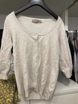 Zara Short Sleeve Knitted Jacket oatmeal