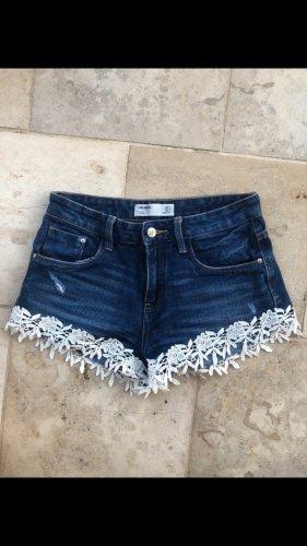 Zara Hot pants donkerblauw