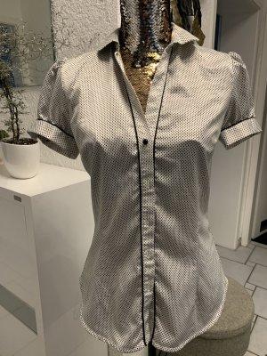 Zara Blusa brillante nero-bianco