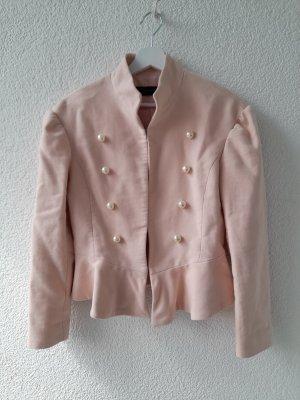 Zara Blazer de lana nude-rosa