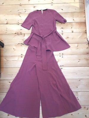 Zara Pantalone culotte rosa-viola