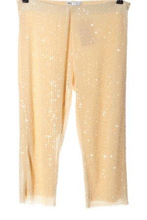 Zara 3/4-Hose nude Streifenmuster Casual-Look