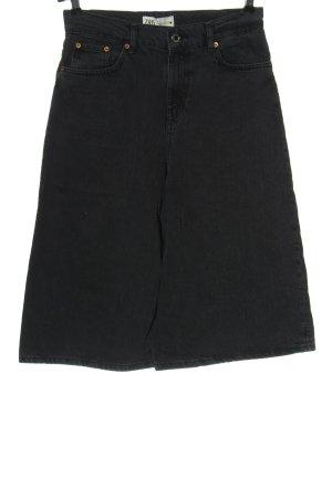 Zara Jeansy 3/4 jasnoszary W stylu casual