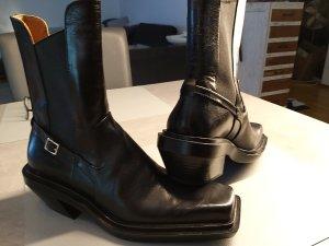 Zara Santiag noir cuir
