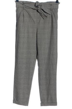Zara 7/8-broek zwart-wit geruite print casual uitstraling