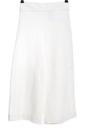 Zara 7/8 Length Trousers white casual look