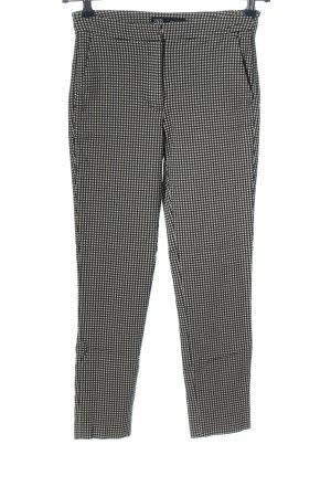 Zara 7/8-Hose schwarz-weiß Allover-Druck Casual-Look