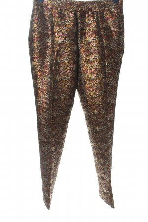 Zara 7/8-Hose braun-blassgelb Blumenmuster extravaganter Stil