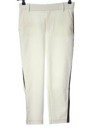 Zara 7/8-Hose weiß Streifenmuster Casual-Look