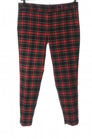 Zara 7/8 Length Trousers black-red allover print casual look