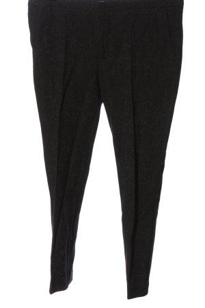 Zara Pantalon 7/8 noir imprimé allover style décontracté