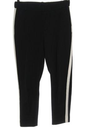 Zara 7/8-Hose schwarz-weiß Casual-Look