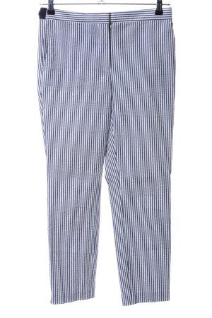 Zara Pantalone a 7/8 nero-bianco motivo a righe stile casual