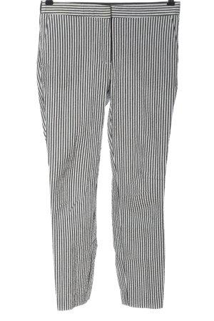 Zara 7/8-Hose weiß-schwarz Allover-Druck Casual-Look
