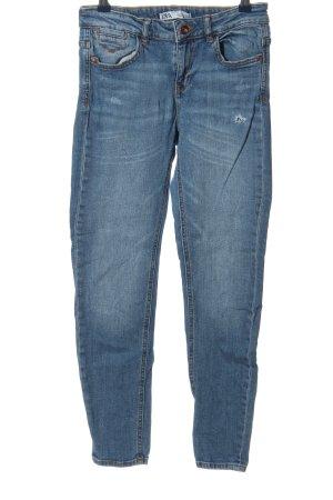 Zara 7/8 Jeans blau Casual-Look