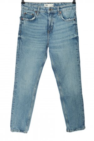 Zara 7/8 Jeans blau Street-Fashion-Look