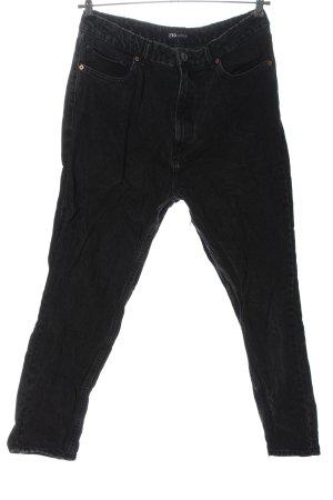 Zara Jeans 7/8 noir style décontracté