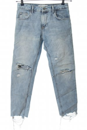 Zara Jeans a 7/8 blu stile casual