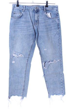 Zara 7/8 Jeans blau Street-Fashion-Look