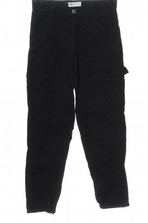 Zara Jeansy 7/8 czarny W stylu casual
