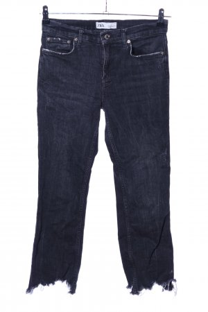 Zara 7/8 Jeans schwarz Casual-Look