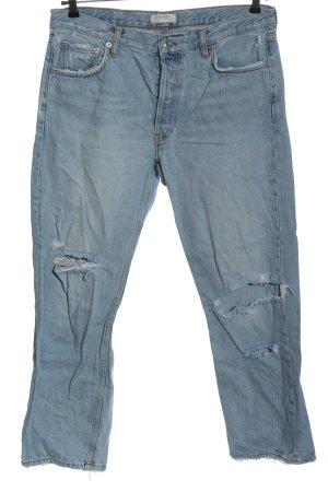 Zara Jeans 7/8 bleu style décontracté