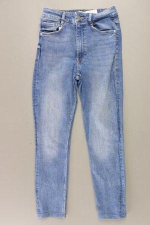 Zara Jeansy 7/8 niebieski-niebieski neonowy-ciemnoniebieski-błękitny Bawełna