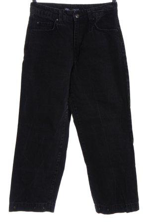 Zara Jeans a 7/8 nero stile casual