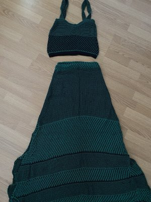 Zara Twin set in maglia verde bosco-verde scuro