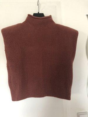 Zara Jersey de manga corta coñac
