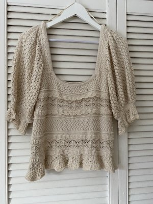 Zara Crochet Top oatmeal