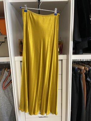 Zara Jedwabna spódnica złotopomarańczowy