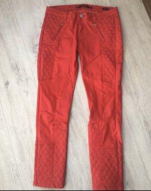 Zara Pantalón elástico rojo oscuro
