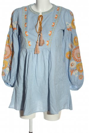 Zara A-Linien Kleid Allover-Druck Casual-Look